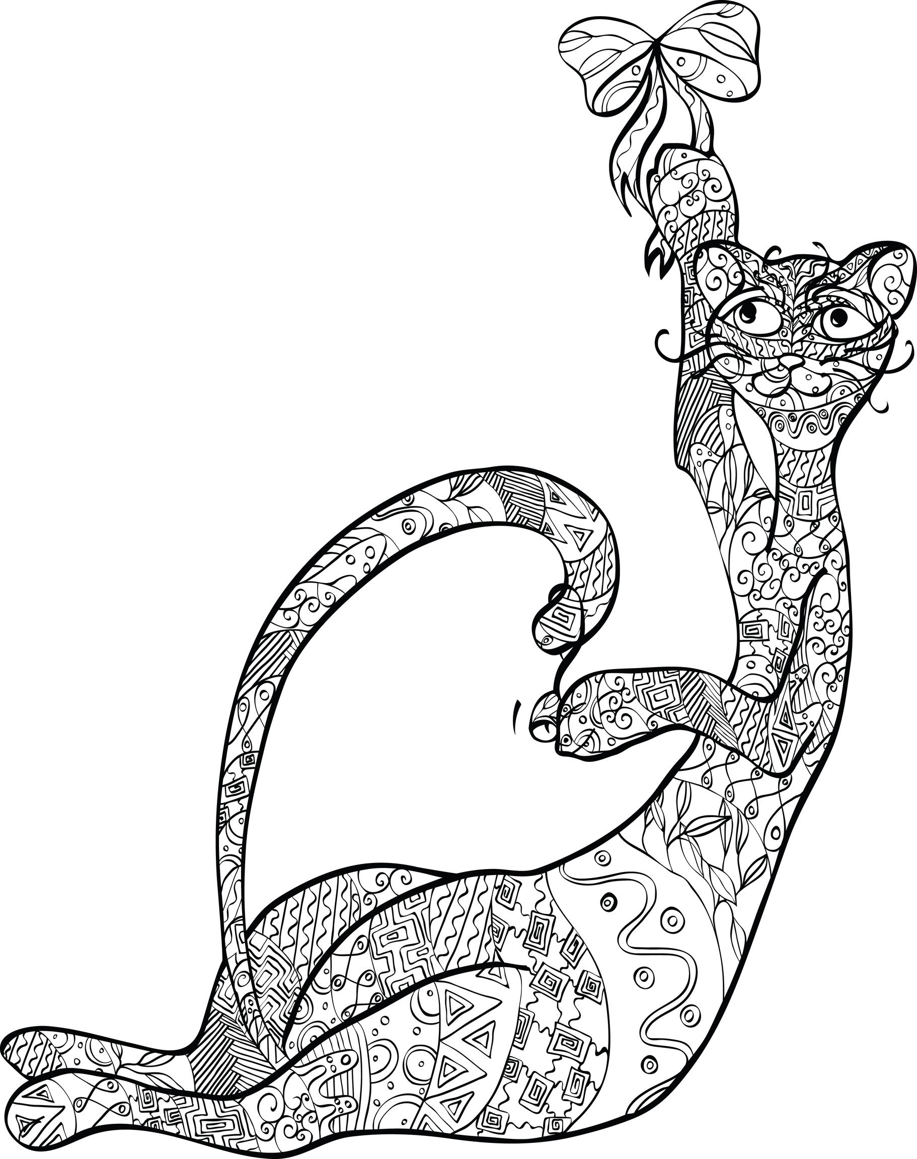 coloriage original de chat