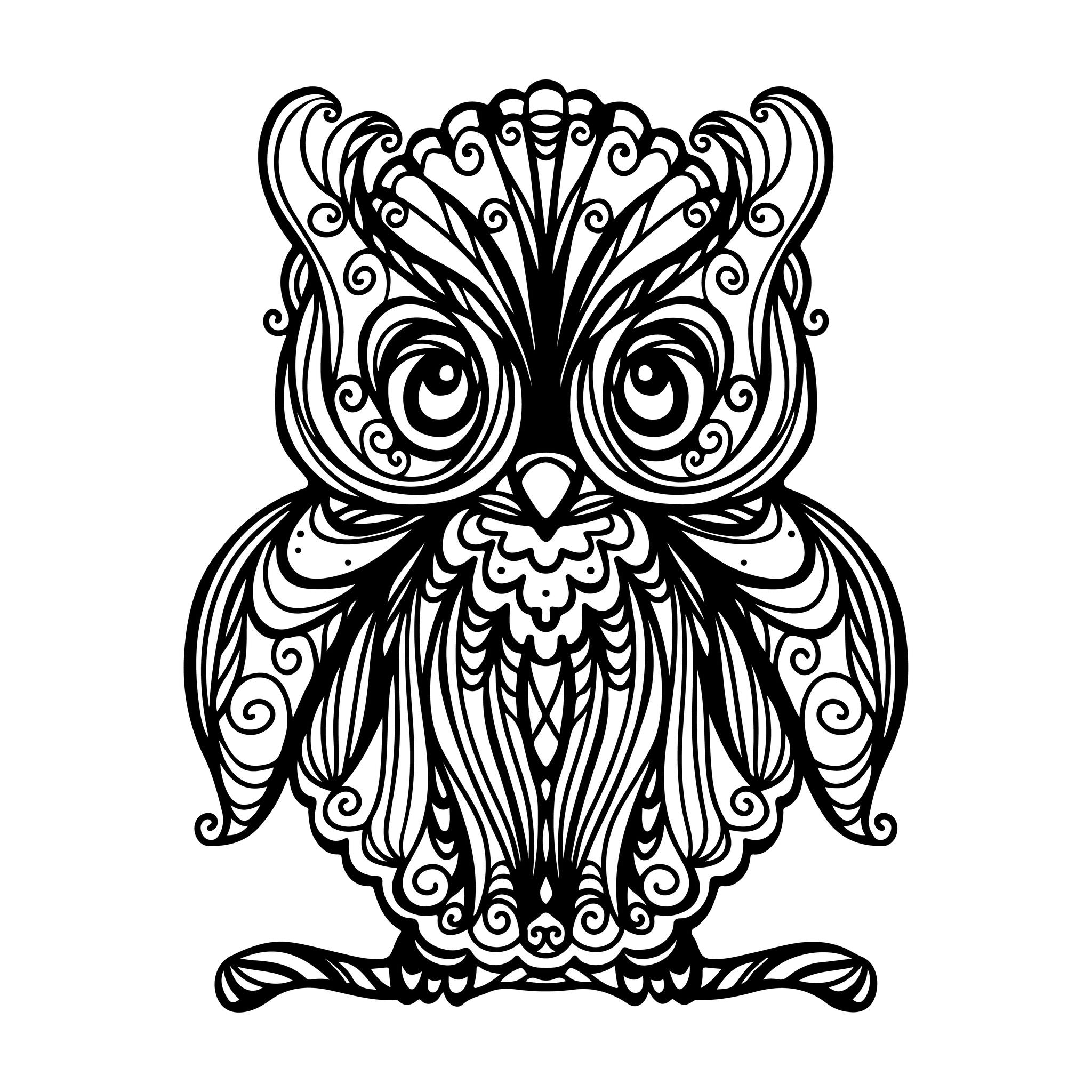 coloriage dun grand hibou