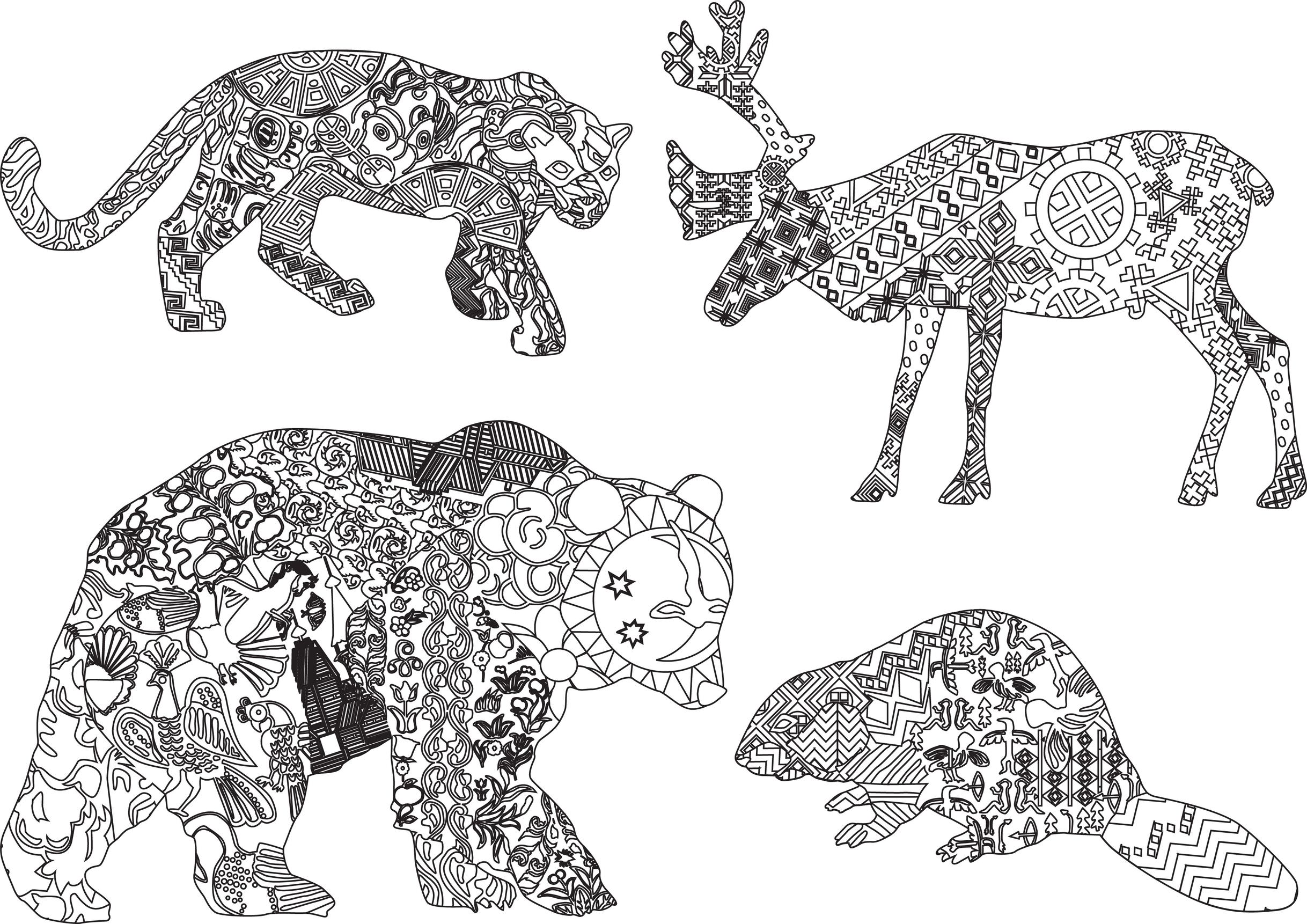 Coloriage d 39 animaux sauvages - Dessin d animaux ...
