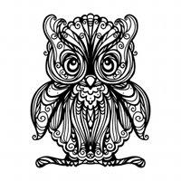 aigle royal dessin grand hibou