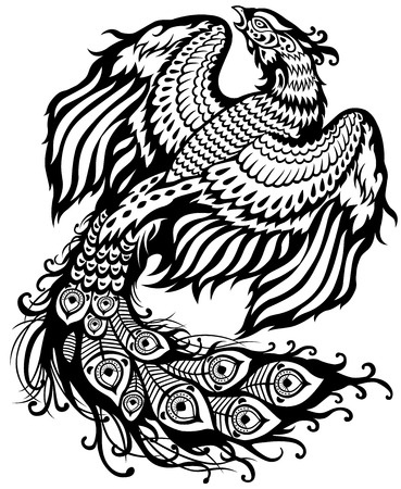 coloriage phoenix animal