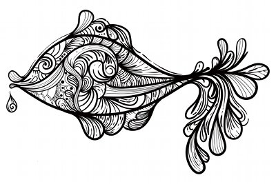 Coloriage adulte g teau - Dessin de poisson facile ...