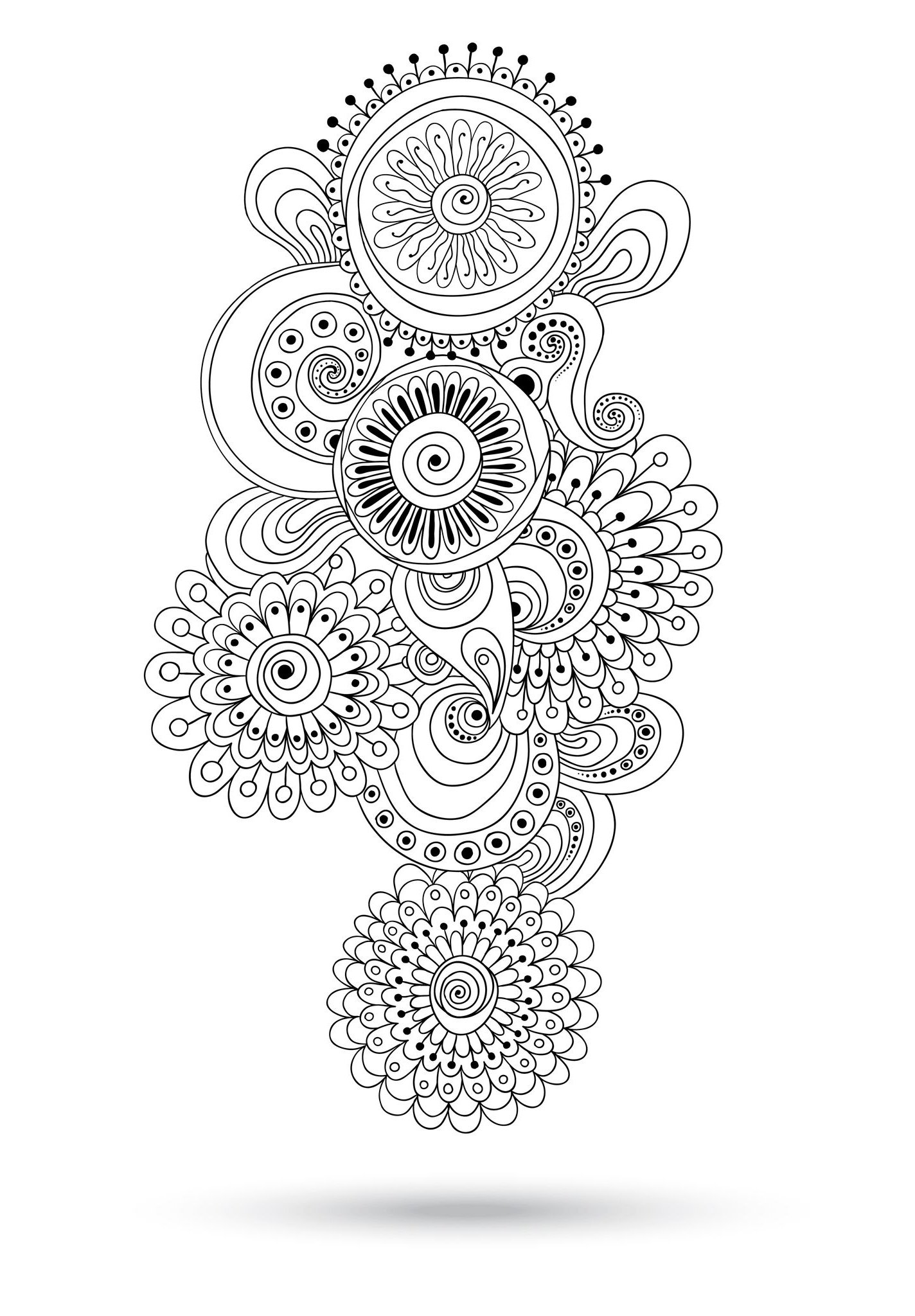 coloriage adulte in n · coloriage ellipse ovale · coloriage anti stress fleur