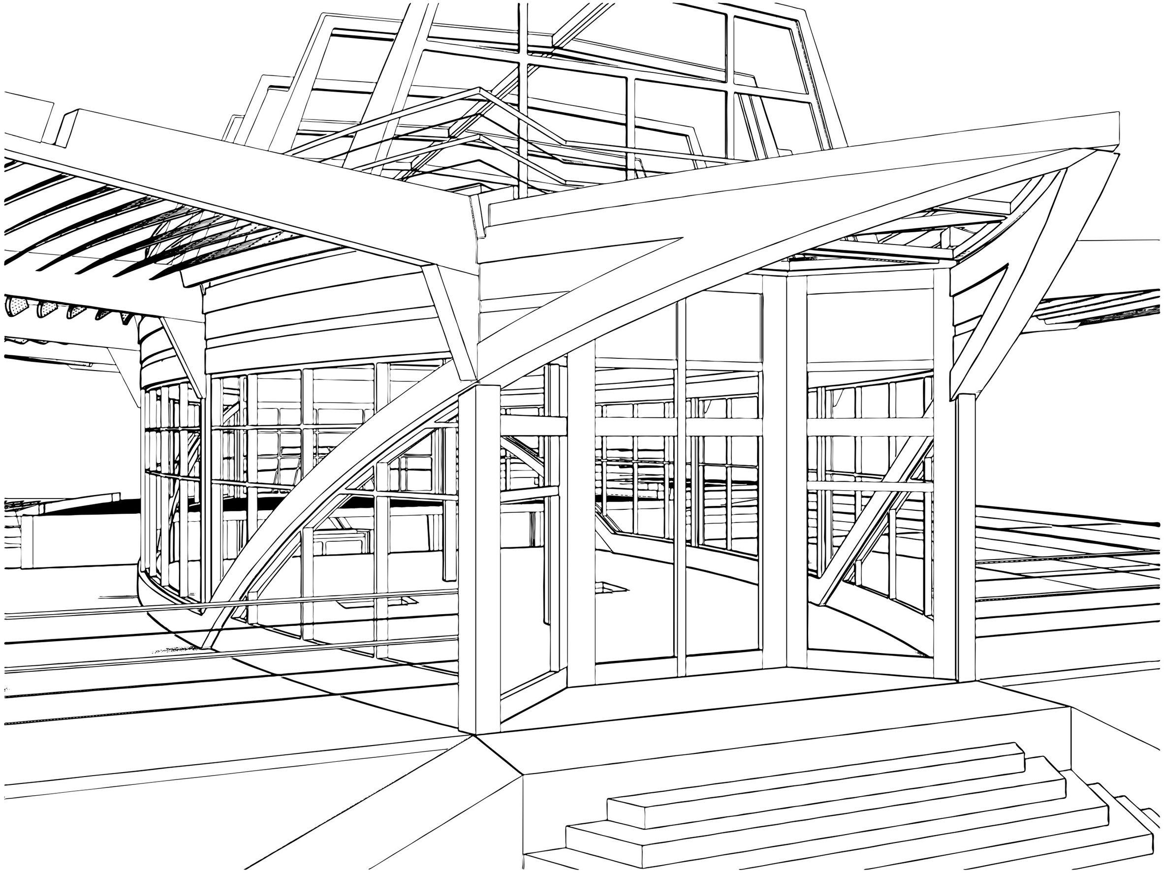 Coloriage d 39 une construction de navire for Dessin de construction du meuble
