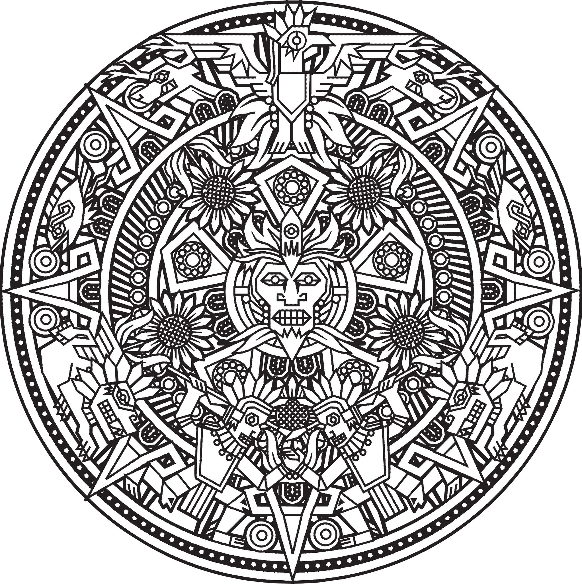 aztec coloring pages letter a - photo#36