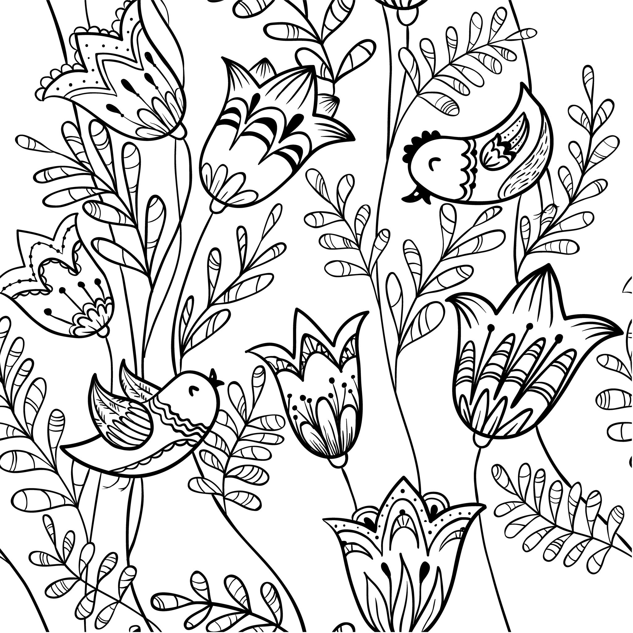 Coloriage Printemps Pluie.Coloriage Adulte Printemps