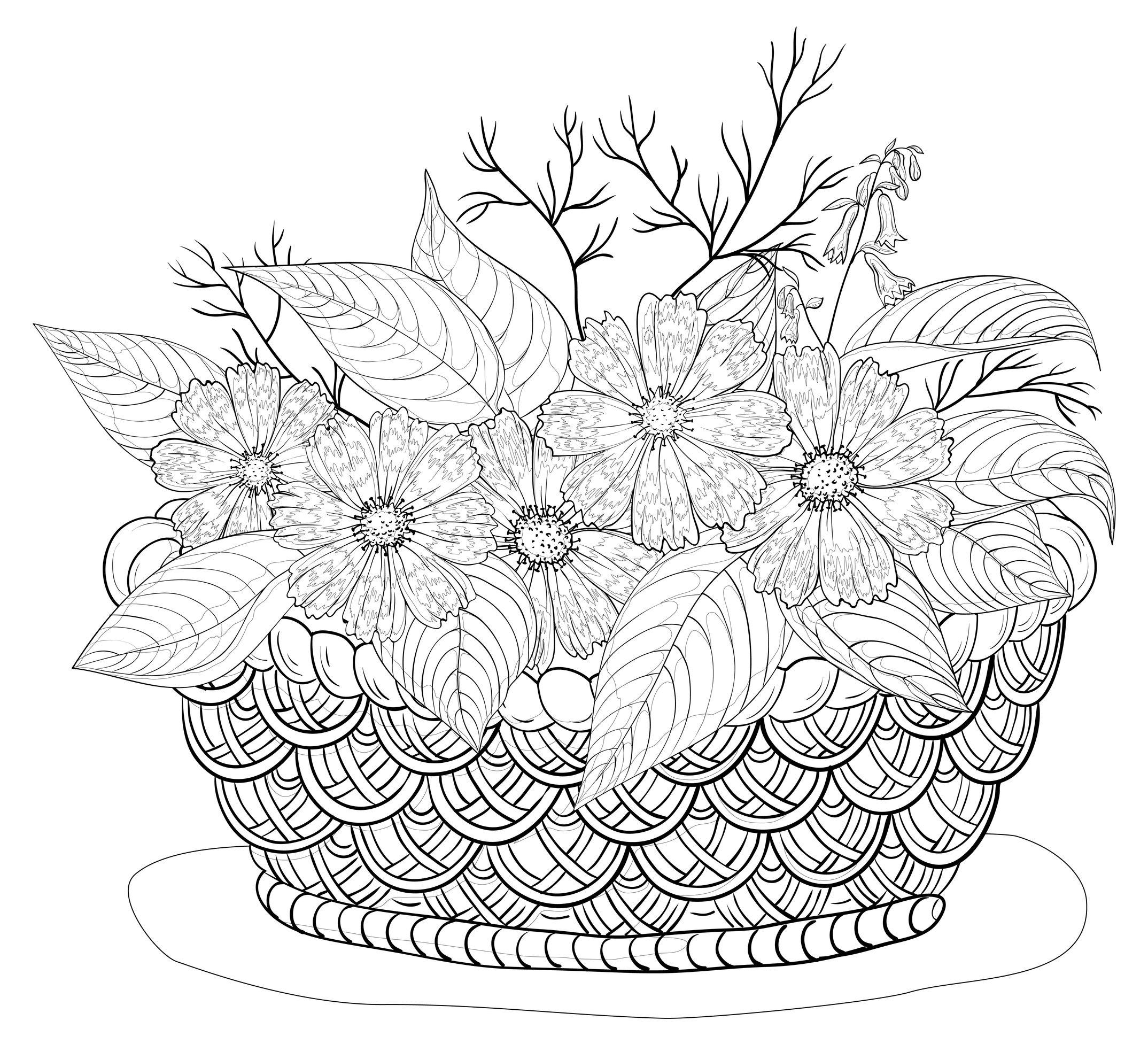 fleurs panier automnal