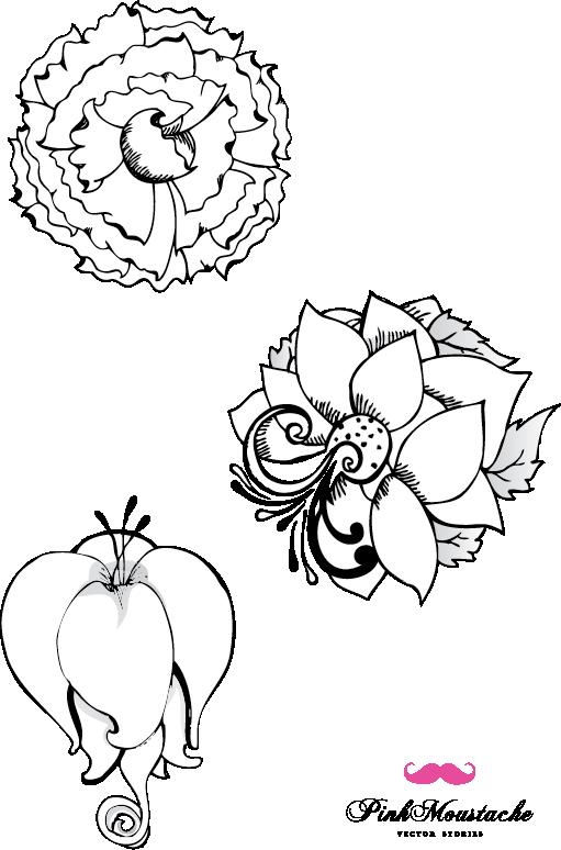 Coloriage adulte fleurs - Fleur dessin images ...