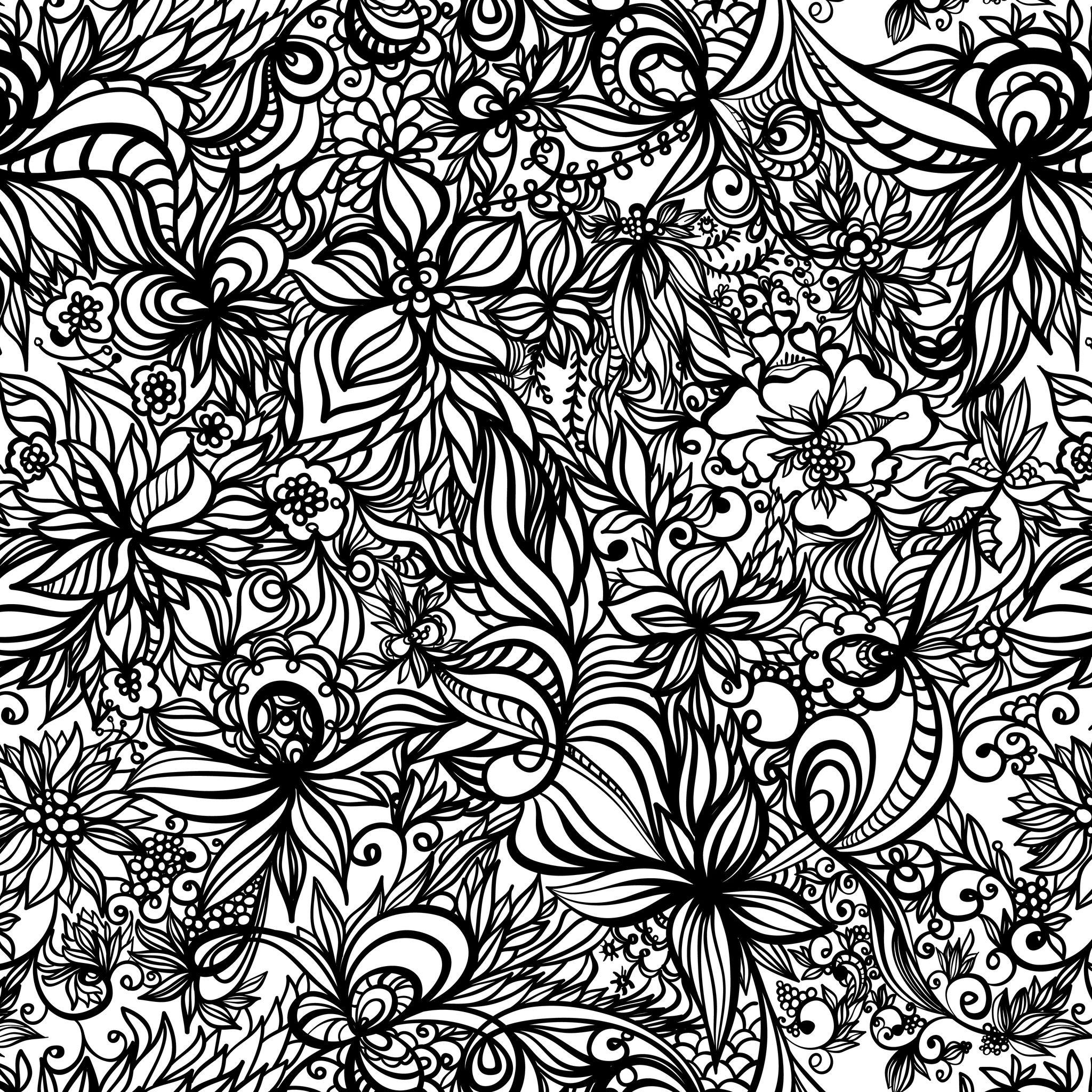 Coloriage de fleurs tropicales expert - Coloriage a imprimer fleurs exotiques ...