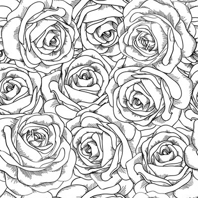 coloriage roses
