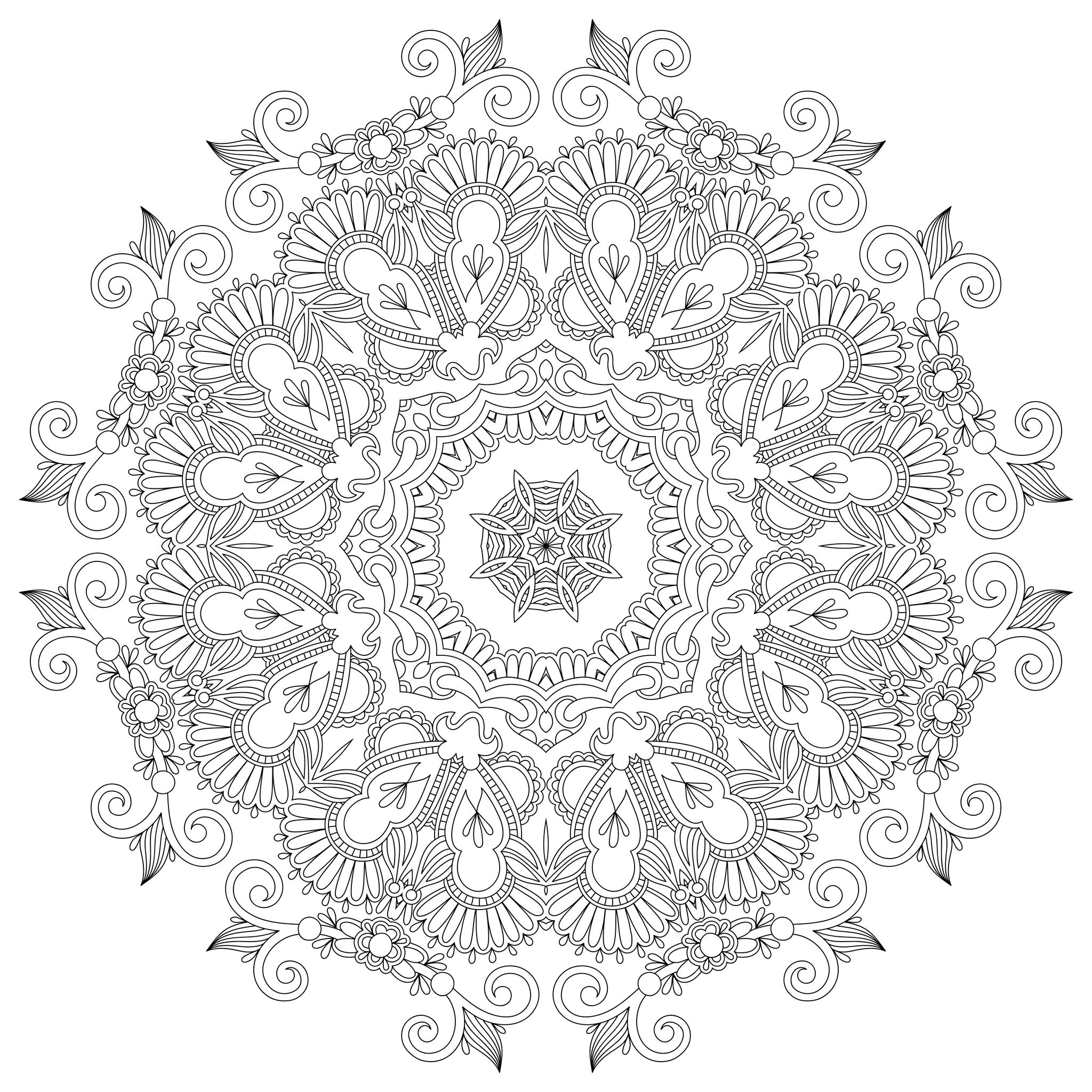 Coloring pages on pinterest free coloring pages mandalas and anti stress - Colorier mandala ...