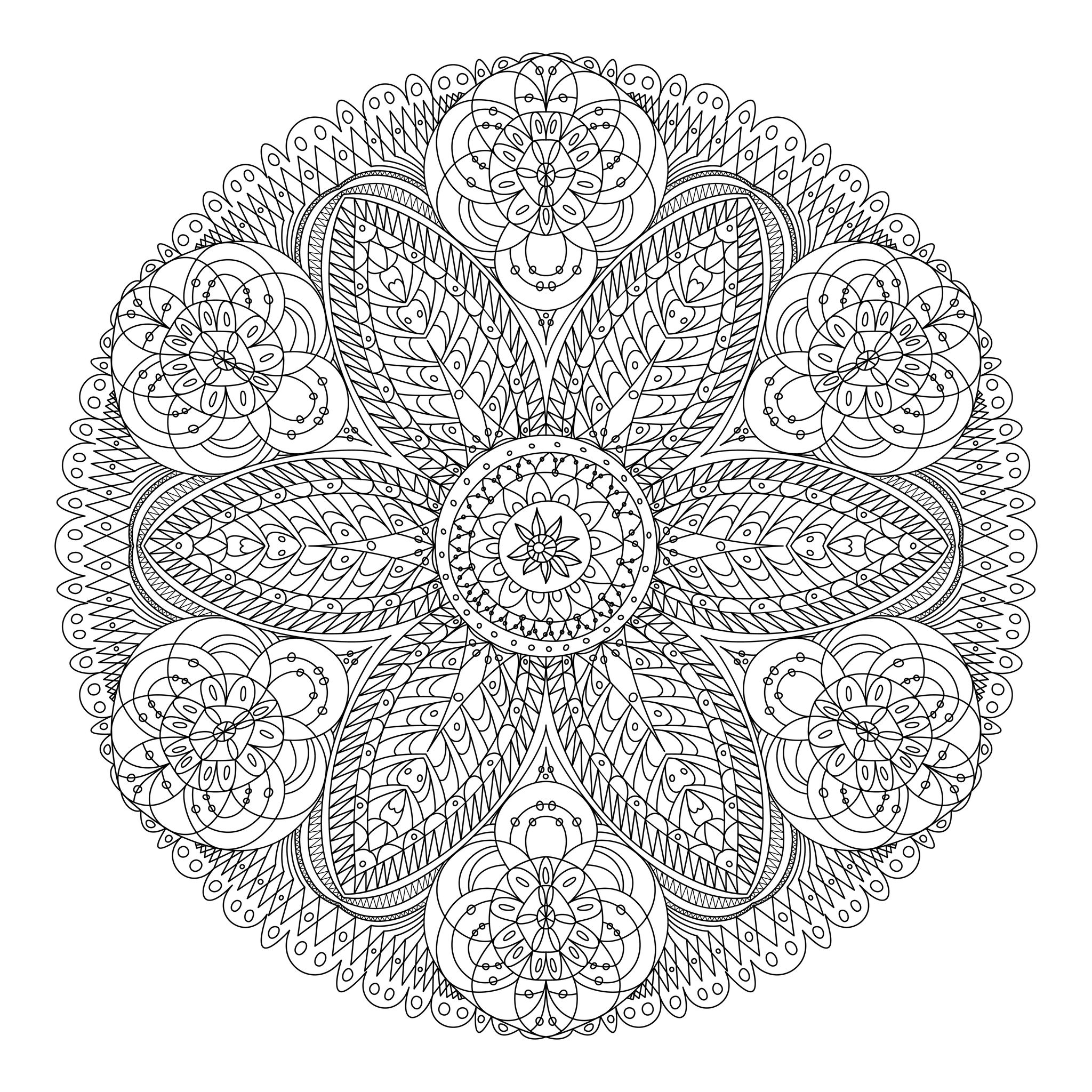 Coloriage Adulte Mandala