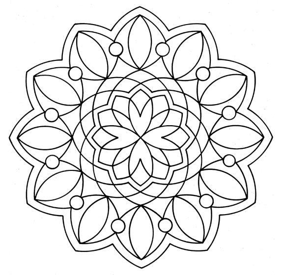 Coloriage adulte fleurs - Coloriage fleur mandala ...