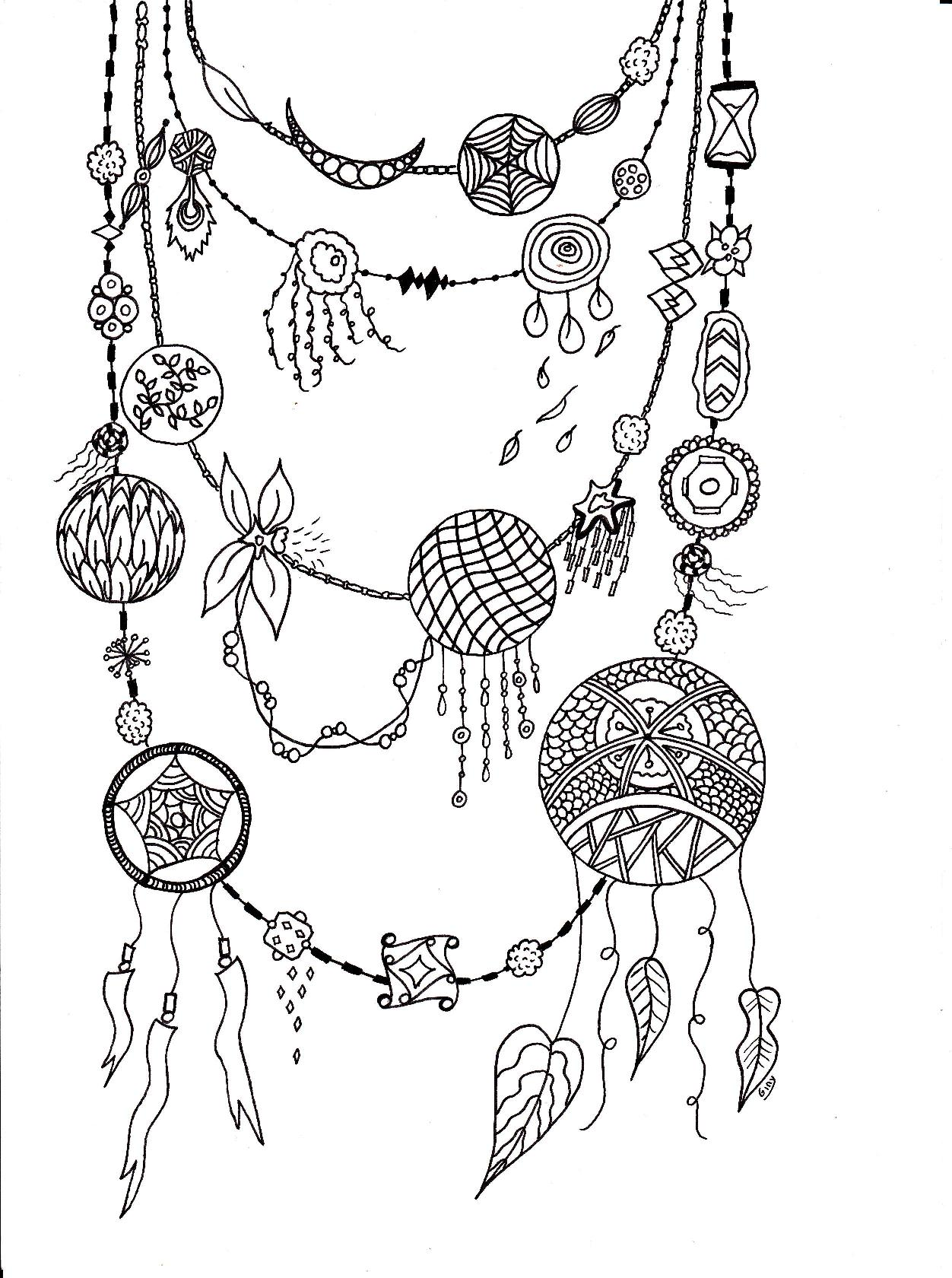 Collier original coloriage adulte - Dessin a colorier adulte ...