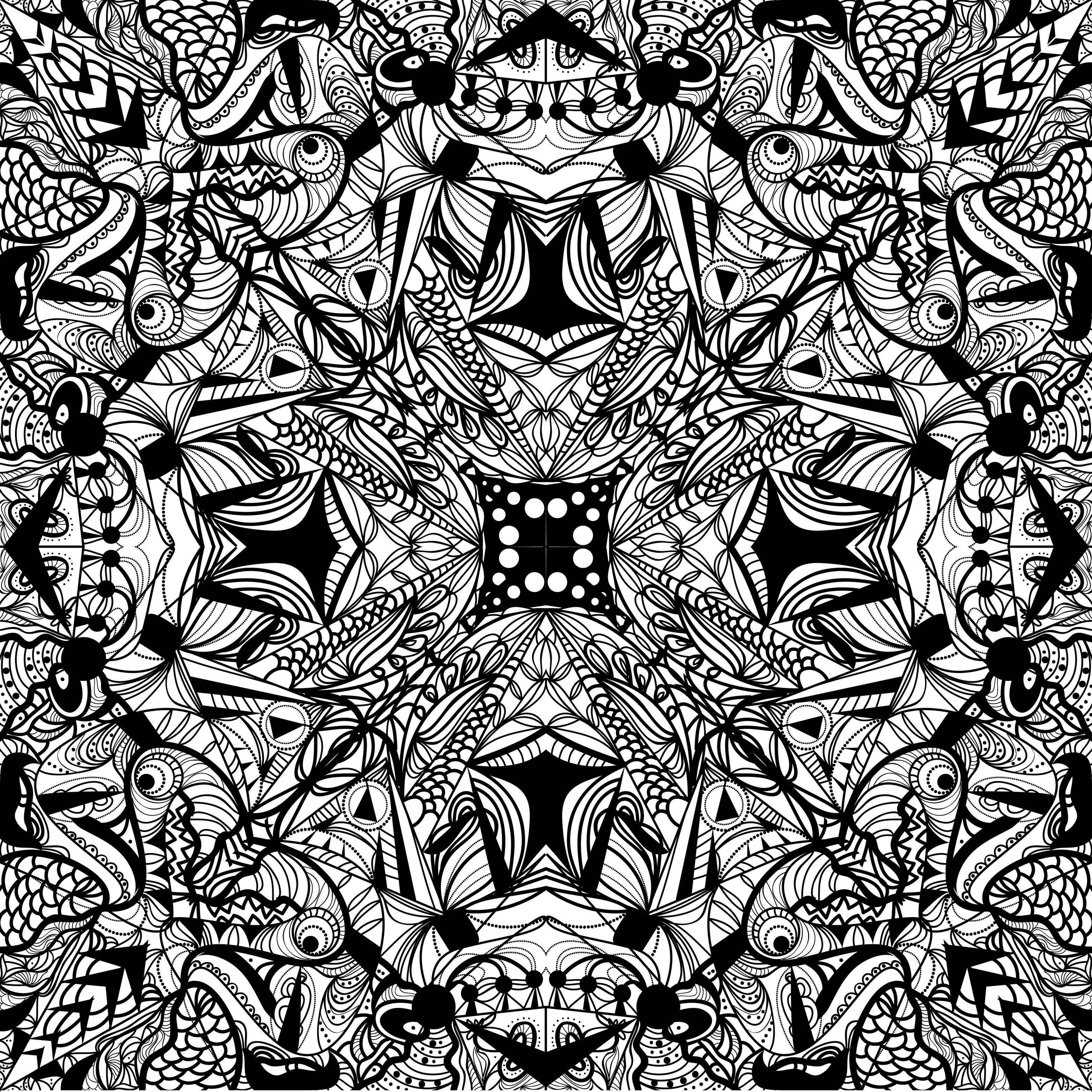 motifs geometriques dessin