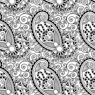 image anti stress etoiles zen coloriage motifs paisley