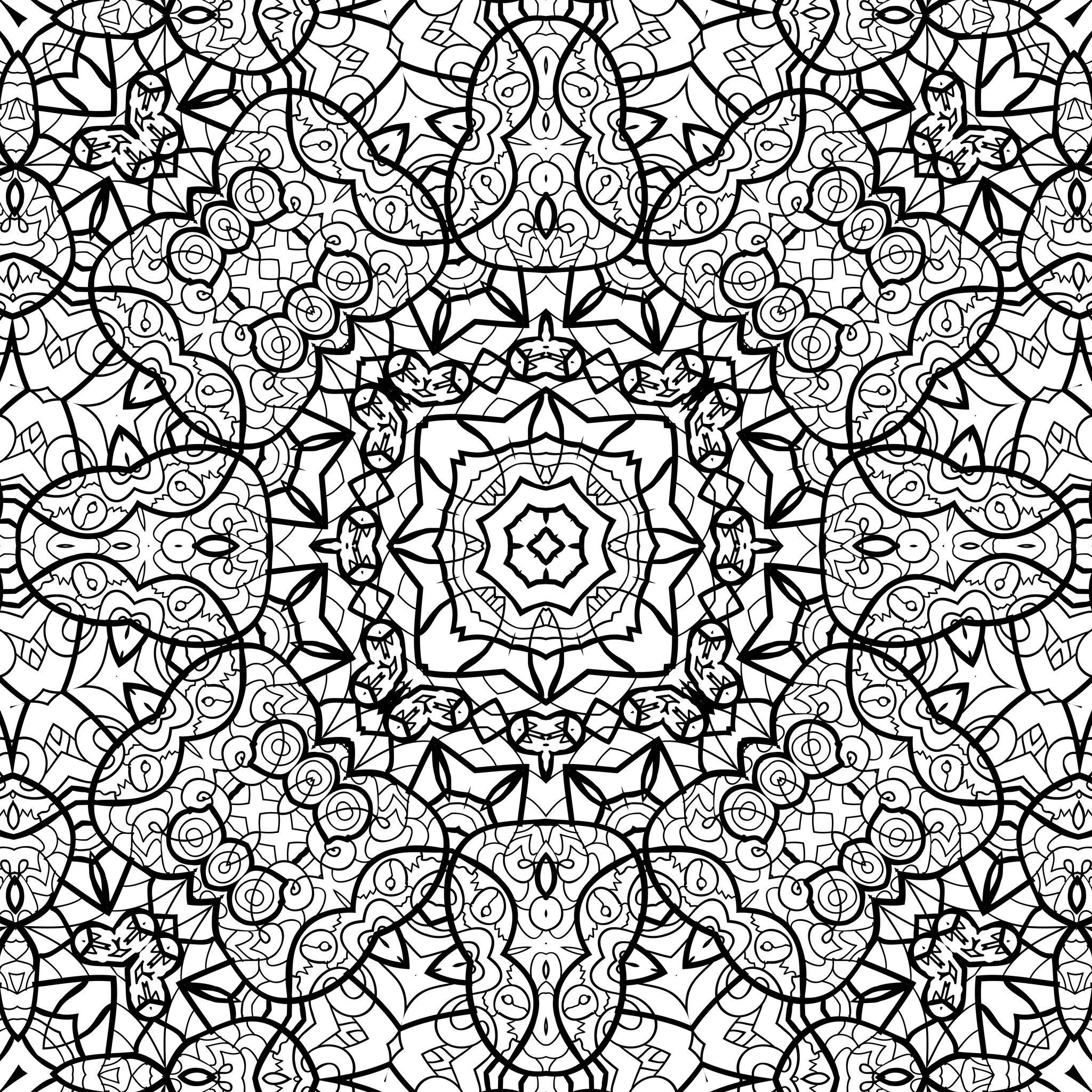 Coloriage aux motifs g om trique zen - Coloriage geometrique ...