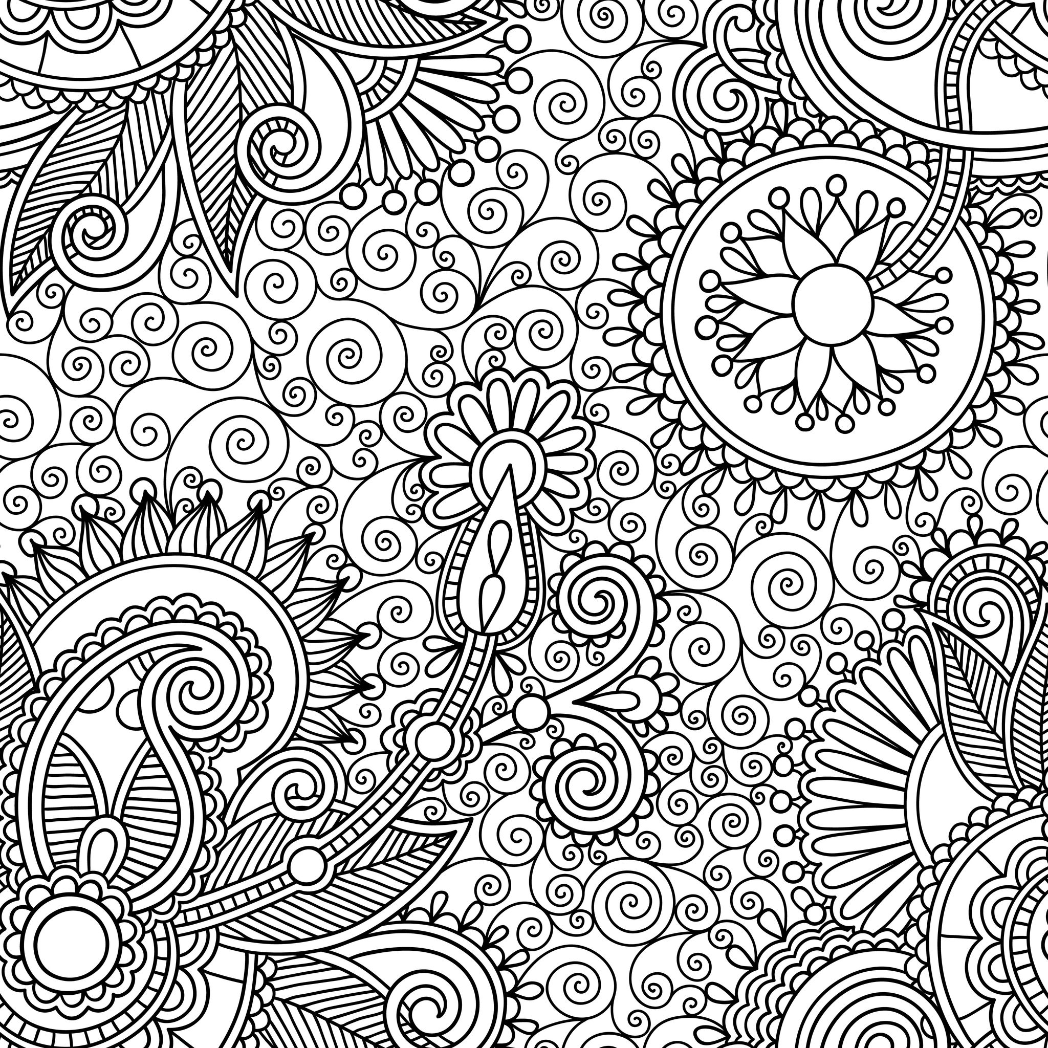 coloriage anti stress mandala